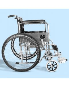 Mediva Wheelchair Commode - Chrome Plating  (Non ISI)- MHL 1002 C