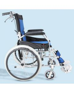 Mediva Aluminium Wheel Chair (White)- MHL 1008