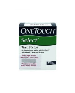 OneTouch Select Glucometer Strips  (Pack of 25)