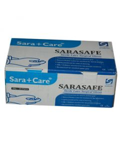 Sara Care Sterile Surgical Gloves (ISI Mark) Powdered (Size: 8) SG-101