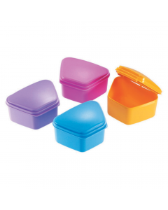 Denmax Denture Box Plastic - Assorted colors