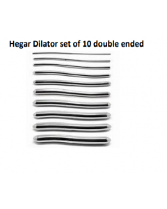 MEDICAL HEGAR DILATOR SET OF 10 DOUBLE ENDED