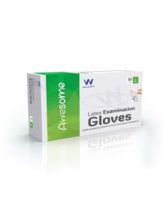 Waldent Latex Examination Gloves,Large