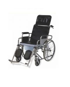 Easy Care Reclining Commode Wheelchair - EC 609 GC