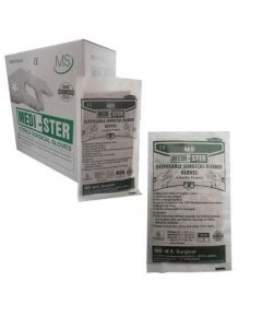 "Medister Latex Surgical Gloves - 6.5"" (Powdered Non Sterile)"