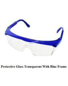 Protective Glasses Transparent With Blue Frame DentaKraft