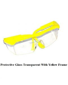 Protective Glasses Transparent With Yellow Frame DentaKraft