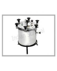 Safe Med Nut Type Electric Stainless Steel Autoclave - 27 Litres