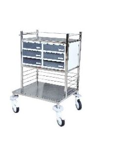 Sigma S.S. Half Crash Cart Trolley -SM-5012