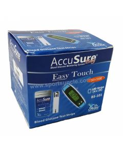Strips For Accusure Easy Touch Glucose Monitor Pack of 100