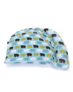 Tortle Repositioning Beanie - Small, Elephant Print Blue