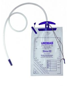 Romsons Urine Bag with Measured Volume Chamber UROMETERPLUS (Plus Pediatric and Infant)