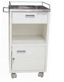 PMT Bedside Locker Deluxe with Railing ,Towler Hanger and Lock 1211B_00