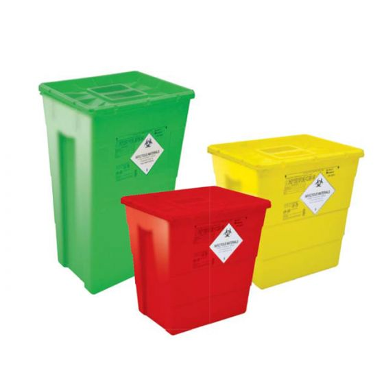 ARVS Waste Bins Without Foot Pedal & Wheels (60 Ltr) Green