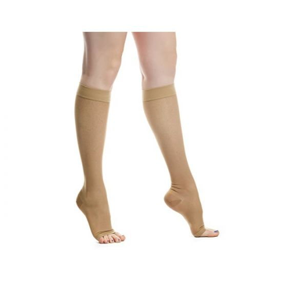 Evacure Medical Compression Knee High Open Toe Stockings (Pair) Size: 7