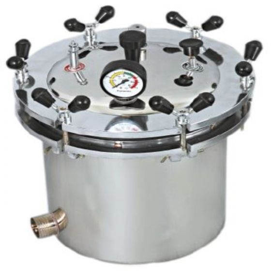 JE Mediguard Portable Electrical Seamless Autoclave, Stainless Steel Wing Nut Type (39 Ltr)