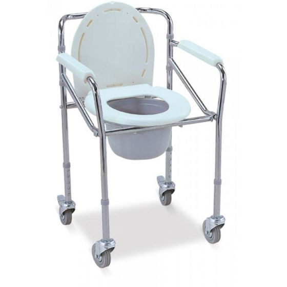Jeegar Height Adjustable Commode with Wheel JE 696