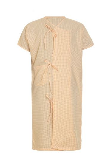Kaustubh Patient Gown ½ Sleeves ½ Front Open (Large)