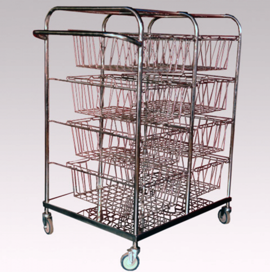 Pharma Technik S.S. Distrubution Trolley for Modular Baskets_00